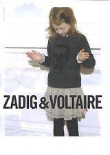 PUBLICITE ADVERTISING  2012  ZADIG & VOLTAIRE haute couture Junior fille