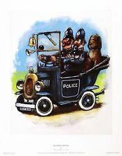 "Barry Leighton-Jones ""Highway Patrol"" police NEW PRINT SIZE:27cm x 35cm  RARE"