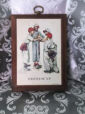 """Vintage Norman Rockwell Prints by Standard Packaging Corps """"Choosin Up� 7"""" X 5"""""""