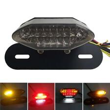 LED Motorcycle Quad ATV Tail Turn Signal Brake License Plate Integrated Light