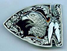 Buckle Gürtelschnalle Adler Eagle Feder Western Indianer