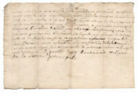 c1700 manuscript sale document AUTHENTIC