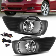 for 2007-2009 Toyota Camry Clear Front Bumper Fog Lights Lamps Kit Switch+Wiring
