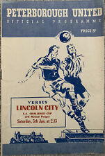 More details for peterborough united v lincoln city fa cup third round 1956/57