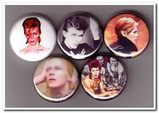 DAVID BOWIE Buttons Pins Badges ziggy stardust glam rock space oddity heroes