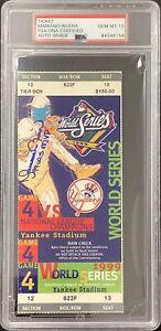 Mariano Rivera Signed Full Ticket 1999 WS Game4 Yankees MVP Insc PSA/DNA Auto 10