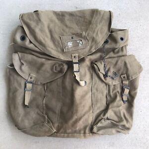Vintage Military Canvas Rucksack Backpack Bag