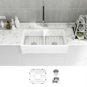 Double Bowl Farmhouse Sink For Sale Ebay