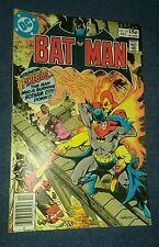 Batman 318 vg uk pence variant cover bronze age detective 1st appearance firebug