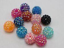 20 Couleurs Mélangées Acrylique Strass Pave Boule Disco Perles 16 mm Shamballa Bracelet