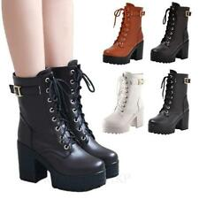 Block Synthetic Leather Slip On Formal Boots for Women
