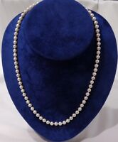 """Single String of Cultured Pearl Necklace with 9ct Gold Clasp - 51cm (20"""")"""