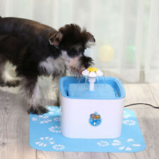 Electric Dog Cat Water Fountain Intelligent Feeder Bowl Pets Drinking Dispenser