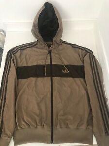 Adidas Originals windbreaker / cagoule / jacket -retro colour block - Large