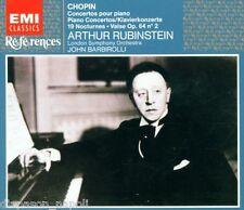 Chopin: Piano Concerto N.1 & 2, 19 Notturni, / Rubinstein, Barbirolli - CD Emi