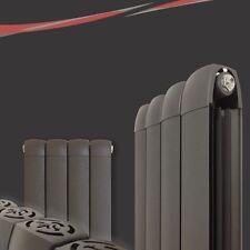 """335mm(w) x 1800mm(h) """"Vesuvius"""" Vertical Anthracite Aluminium Radiator 5431 BTUs"""