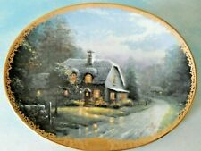 Thomas Kinkade Lamplight Glen Oval Plate Wall 5th Issue Lamplight Village 1492B