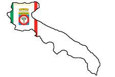 """Auto Aufkleber Italien Region """" APULIEN """" Sticker 11x9 cm konturg."""