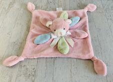 Pickles Flower Bear Security Blanket Knotted Crinkle Lovey Pink Blue Petals