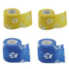 4 x PET HORSE DOG CAT VET COHESIVE BANDAGE SELF ADHERENT WRAP TAPE FIRST AID