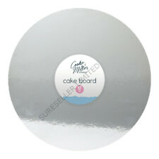 12'' Large Silver Round Shape Cake Board Display Serving Birthday Wedding Holder