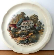 Vintage Collectible American Homestead Summer By Currier & Ives Decoration Plate