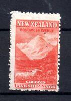 New Zealand 5/- vermillion mint with gum (pinholes) NZ Upright WMK WS21111
