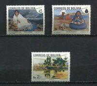 37175) Bolivia 1991 MNH Christmas 3v