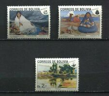 37175) BOLIVIA 1991 MNH** Christmas 3v