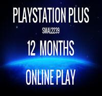 Playstation Plus 12 Month Membership PS4 PS3  NO CODE READ DESCRIPTION Xmas Gift