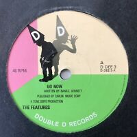 """THE FEATURES -  Go Now / Make Me Wanna - 7"""" Single Vinyl Record D DEE3 Power Pop"""