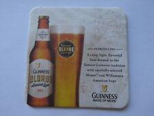 Beer Coaster ~ GUINNESS Brewery Blonde American Lager ~ Mosaic & Willamette Hops