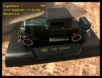 Signature 1930 Hudson 1:32 Scale Model Car - Boxed - Unused - Box is Damaged