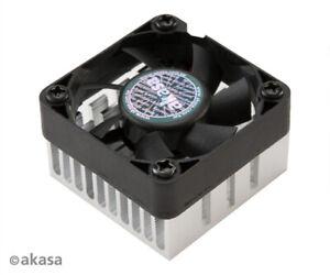 Akasa AK-210-BK Compact Low-noise Chipset Cooler 38mm x 38mm x 13mm Black