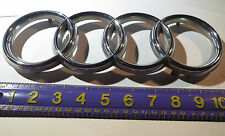 Audi Rings Emblem Front A8 - Chrome - Badge Lettering Logo - 1995-2010 - Grill
