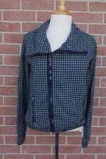 Dc Women's Plaid Blue/Gray Jacket Size Small