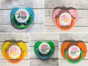 Peppa George Pig Reborn Magnetic Dummy Dummies Soother Pacifier- self fit magnet