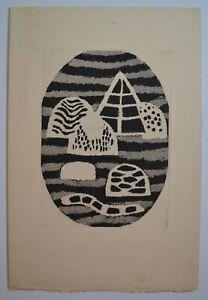 Zoran Music 1956 signed numbered print Galerie De France mid-century modern art