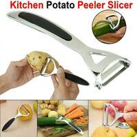 Stainless Steel Fruit Vegetable Slicer Potato Peeler Carrot Grater Shred Cutter.