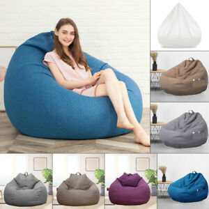 100X120cm Extra Large Bean Bag Chairs  Adults Couch Sofa Cover Lazy Lounger!