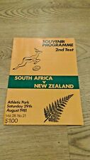More details for new zealand v south africa 2nd test 1981 rugby union programme