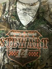 Stewart #14 Team Realtree Stewart Haas Racing Ladies Camo V-Neck Tee  Size 2XL