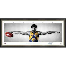 JOSH KENNEDY WEST COAST EAGLES SIGNED FRAMED AFL POSTER PRINT