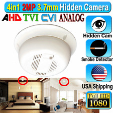 4in1 1080P FHD Smoke Detect Hidden SPY Camera 2MP CCTV HD CVI AHD TVI Analog