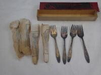 Set of 8  LADY DORIS / PRINCESS 1928 Silverplate Dessert / Salad Forks