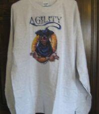AGILITY Rottweiler Women's T-shirt Long-sleeved Size XL nwt