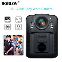1296P Security Body Worn Camera Police Pocket Video Recorder Night Vision H.264