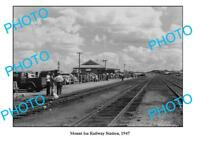 OLD LARGE PHOTO QUEENSLAND MOUNT ISA RAILWAY STATION c1947