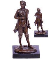 Bronzefigur Skulptur Art Deco Frederic Chopin auf Marmorplatte Sign. Milo 2,2 Kg