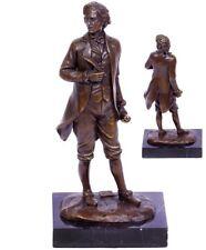Bronzefigur Skulptur Frederic Chopin auf Marmorplatte Signatur Milo 2,2 Kg